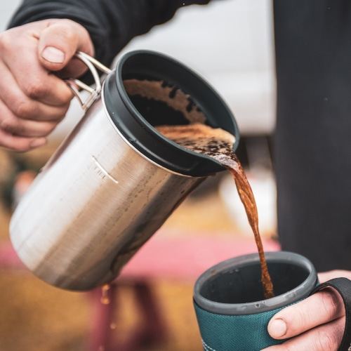 How to make coffee while camping and hiking